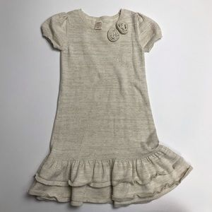 Old Navy gold thread sweater dress 5T